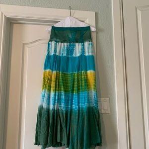 Reba tie dye maxi skirt